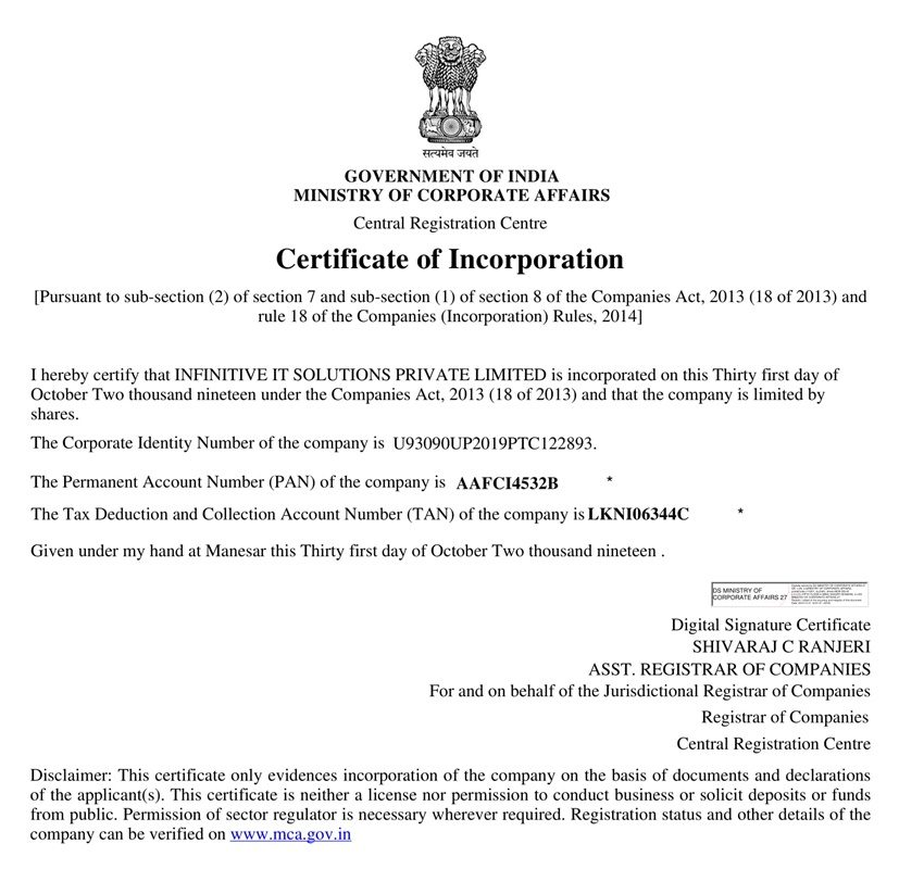 CERTIFICATE OF INCORPORATION-1